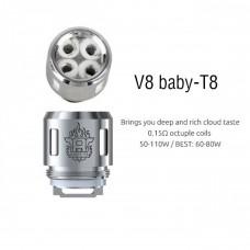 Smok V8 Baby T8 Coils - Singular or 5 Pack